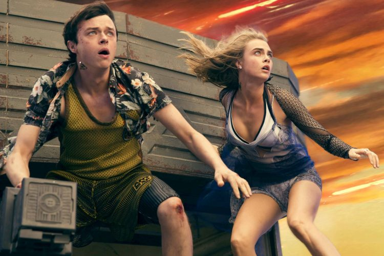 Dane DeHaan and Cara Delevignge in Luc Besson's VALERIAN AND THE CITY OF A THOUSAND PLANETS