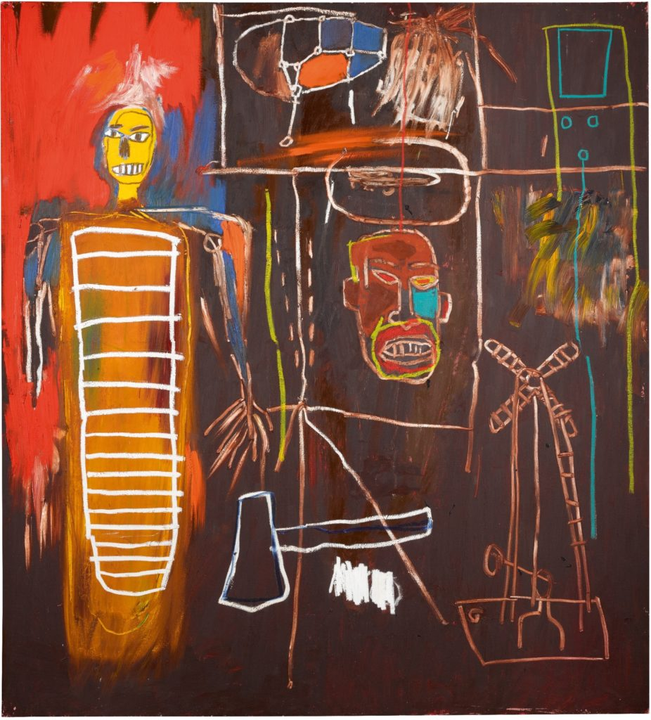 Jean-Michel Basquiat, Air Power, (1984). Courtesy Sotheby's