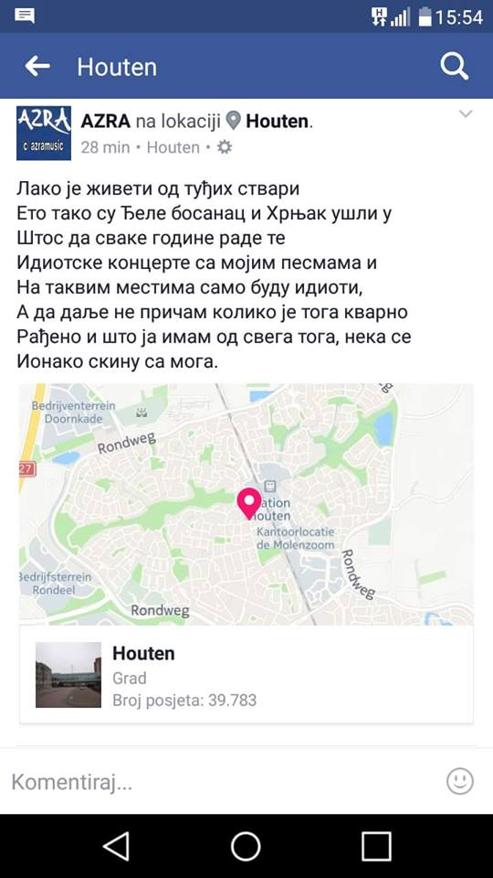 Azra/Photo: facebook/Mišo Hrnjak