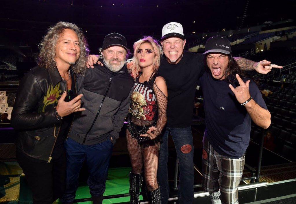 Lejdi Gaga i Metallica/ Photo: Facebook @ladygaga