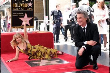 Goldi Hon i Kurt Rasel/ Photo: Facebook @OfficialHollywoodWalkofFame/Cris Delmas