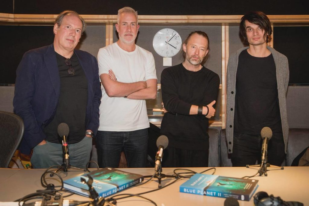 Hans Zimer i Radiohead/ Photo: Facebook @hanszimmer