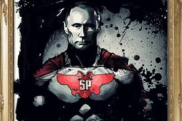 Superputin/Photo: twitter.com/Julian Röpcke