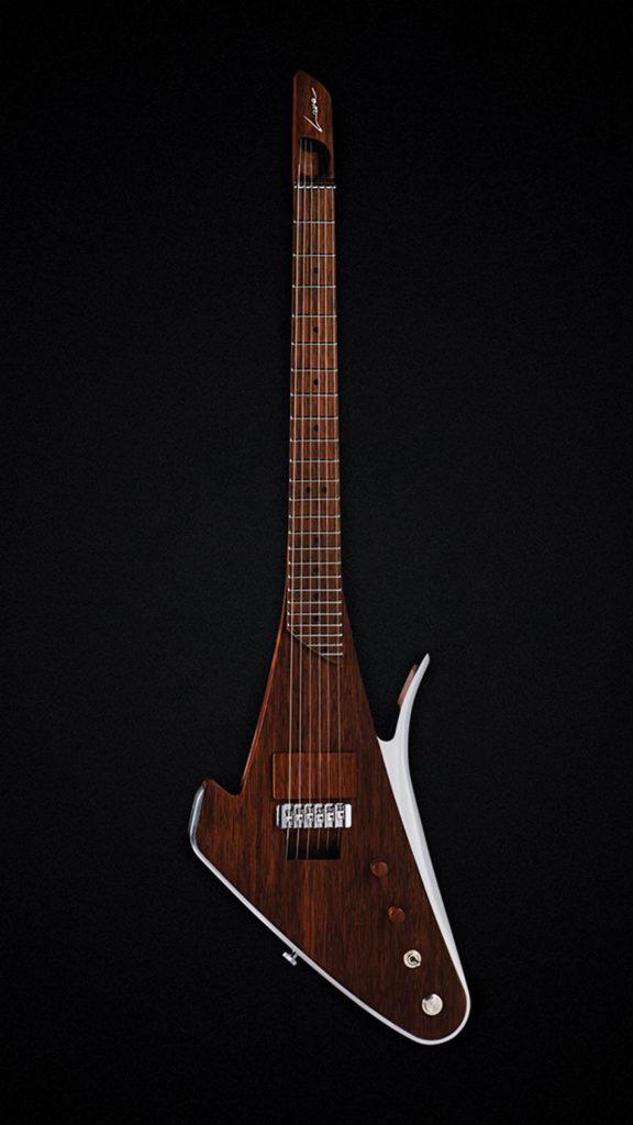 Inovativna Lava Drop X - laserski kontrolisana gitara sa integrisanim Laser MIDI kontrolerom. Izrađena od drveta koji se koristi za izgradnju brodova, avionskog aluminijuma, kamena vulkanske lave i detalja od mesinga za zvona