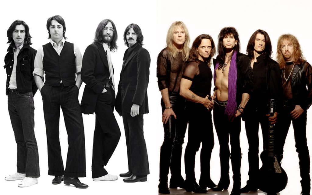 The Beatles, Aerosmith/Photo: Promo