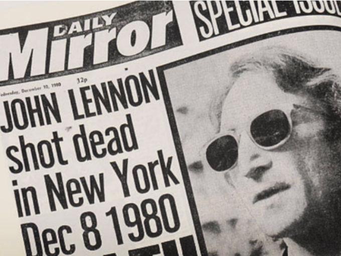 Naslovna strana Daily Mirrora, dan posle ubistva Lenoina/Photo: YouTube printscreen