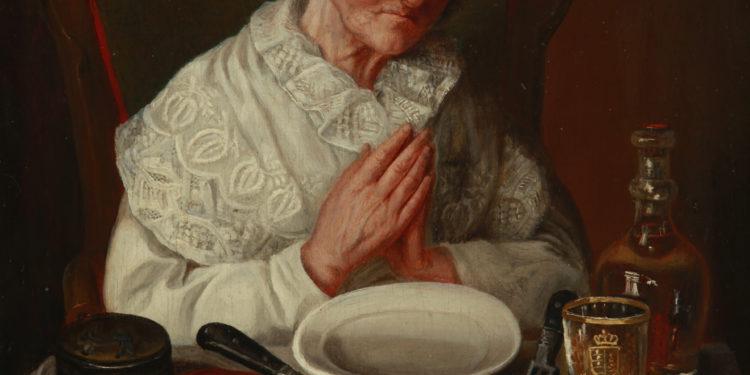 K. Ivanovic, Starica se moli pred obed