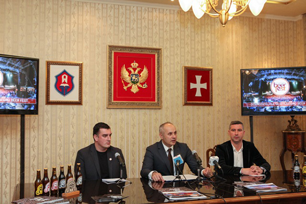 Konferencija za medije na Cetinju/ Photo: Promo