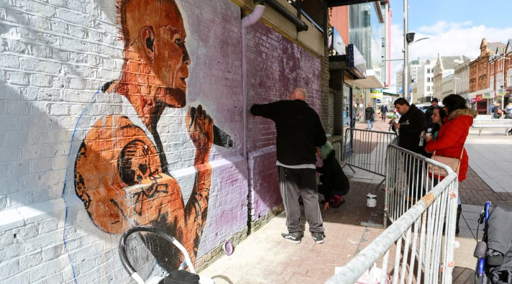 Kit Flint mural/Photo: Twitter printscreen