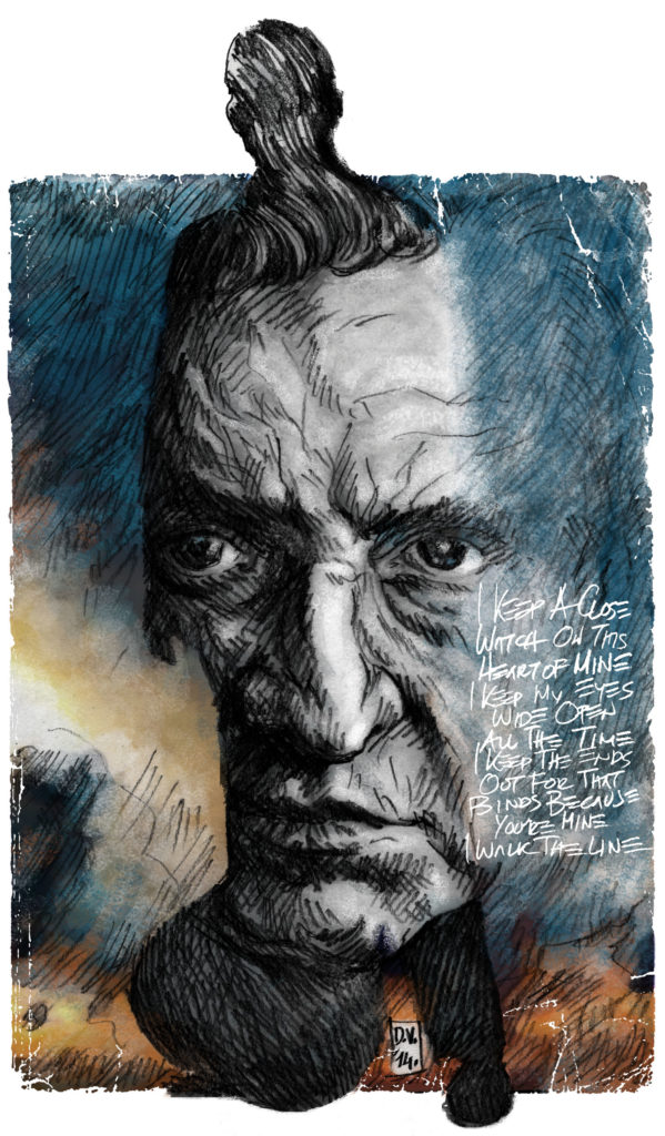 Džoni Keš, Ilustracija, David Vartabedijan