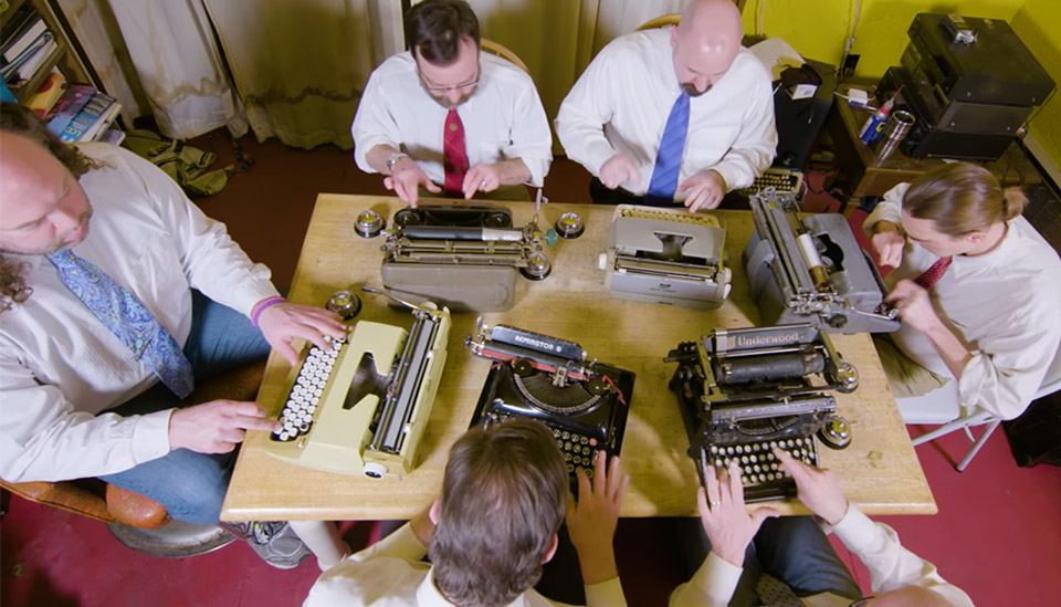 Boston Typewriter Orchestra/Photo: YouTube printscreen