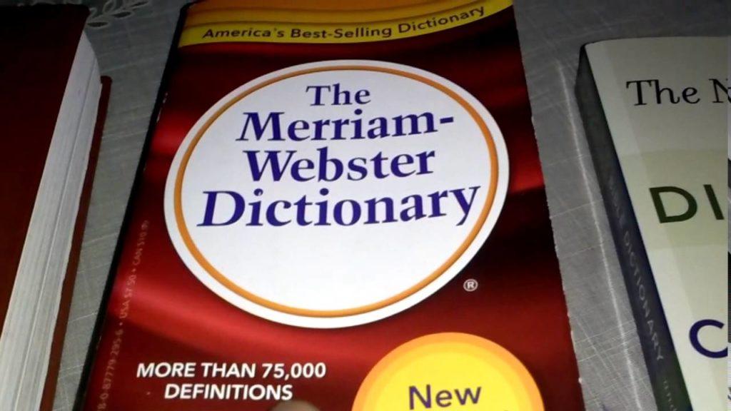 Merriam - Webster Dictionary/Photo: YouTube printscreen