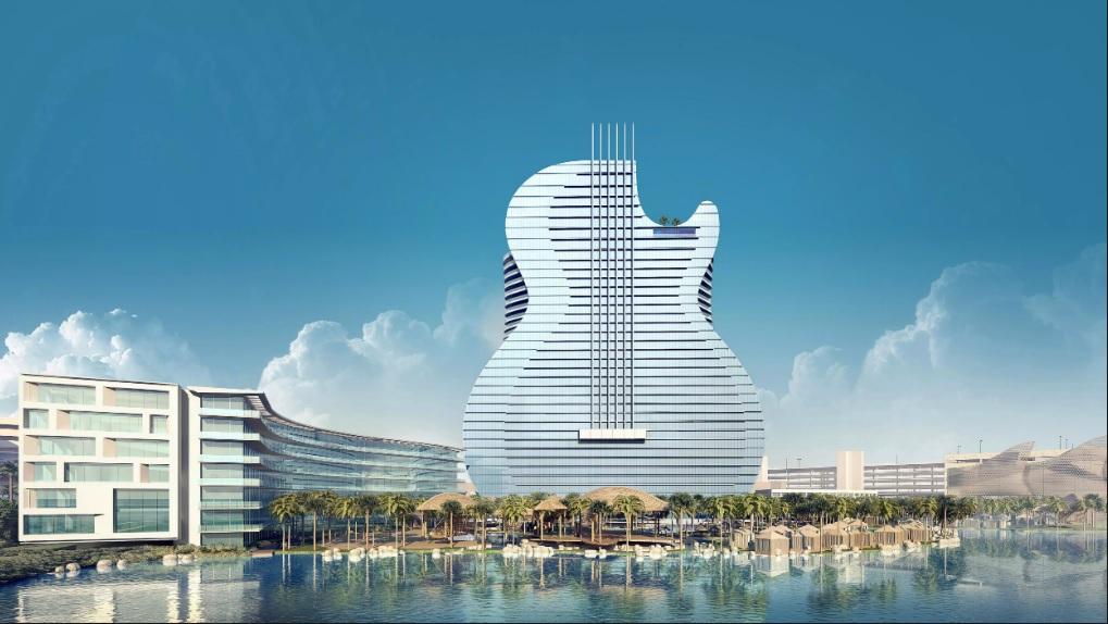 Hard Rock Casino Guitar Shaped Hotel