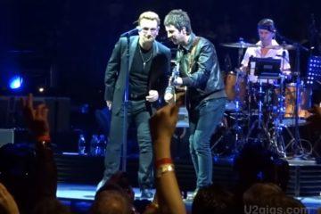 Noel Galager i Bono Voks/Photo> ZouTube printscreen