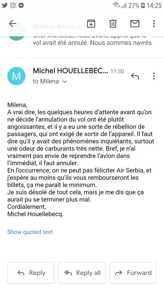 Mišel Uelbek, mail