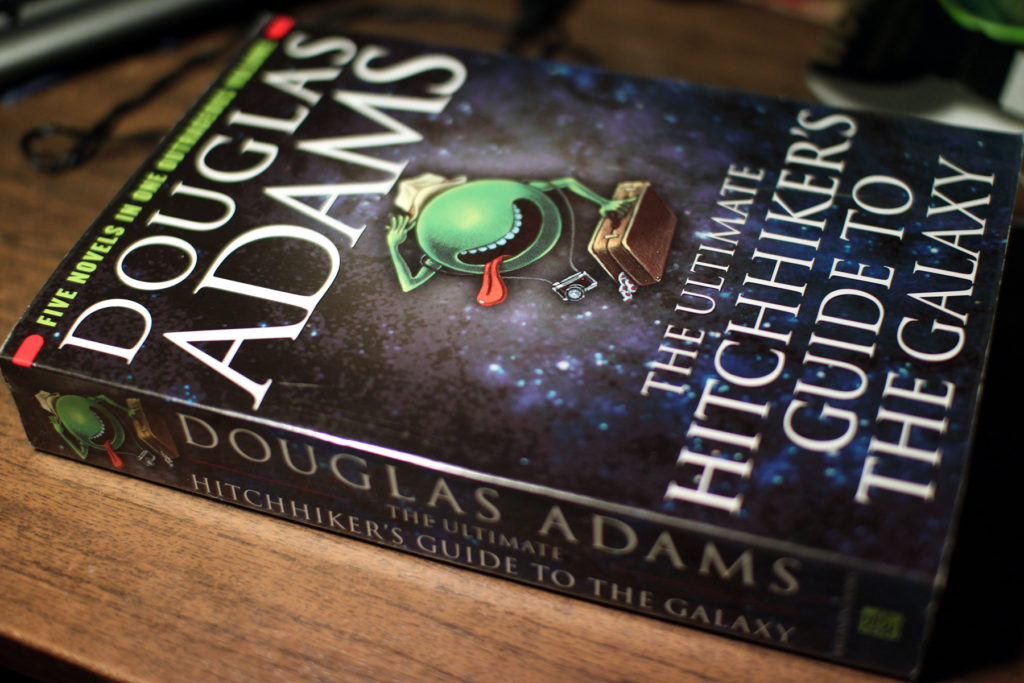 The Hitchhiker's Guide to the Galaxy, cover
