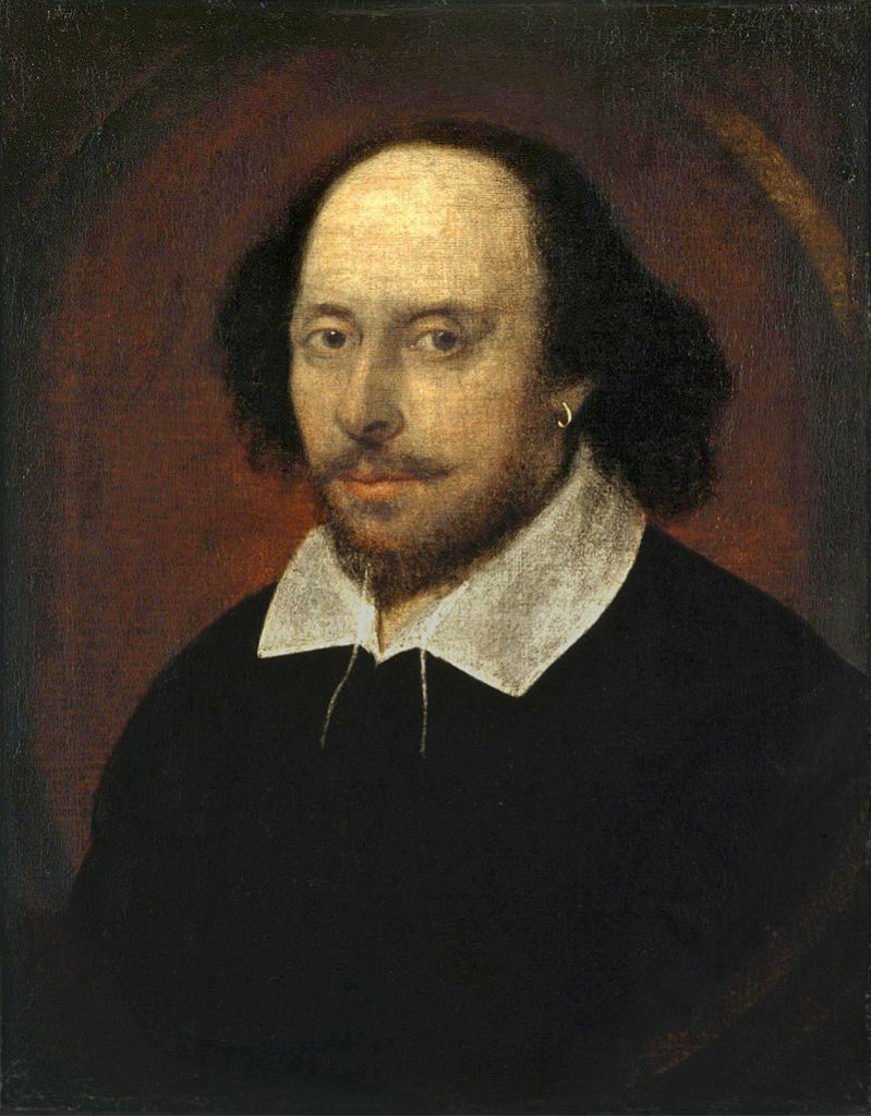The Chandos portrait (held by the National Portrait Gallery, London)