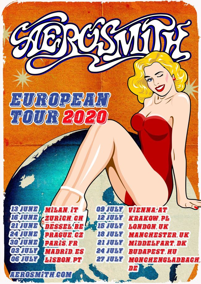 Aerosmith, datumi turneje