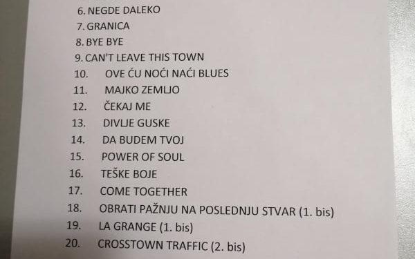 Set lista/ Photo: Marina Pešić