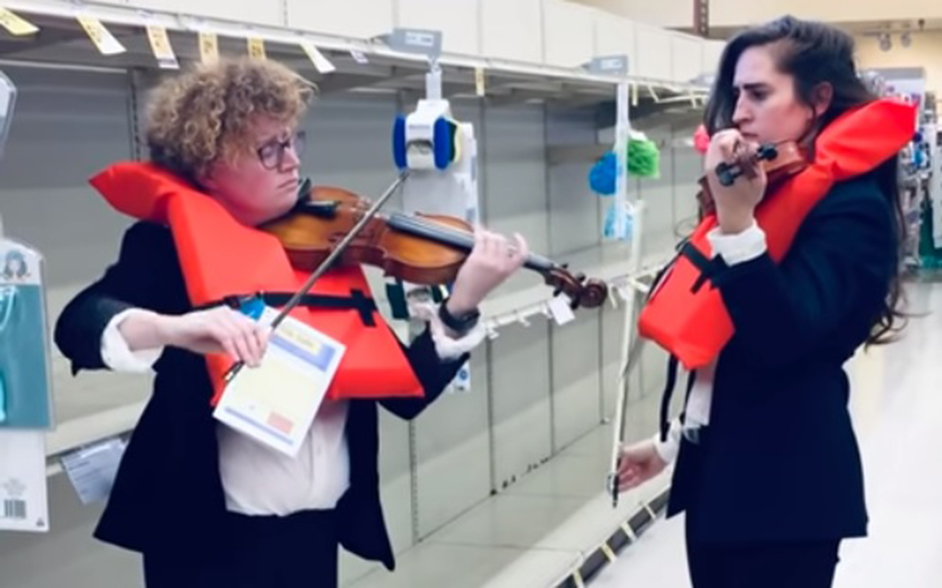 Violinistkinje u supermarketu/Photo: YouTube printscreen