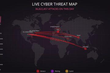 Live Syber Treat Map, printscreen