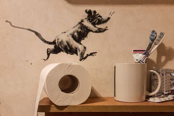 Benksi kod kuće/Photo:  printscreen Instagram @banksy