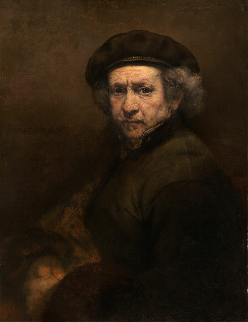 Self-Portrait with Beret and Turned-Up Collar (1659), National Gallery of Art/Wikipedia.org