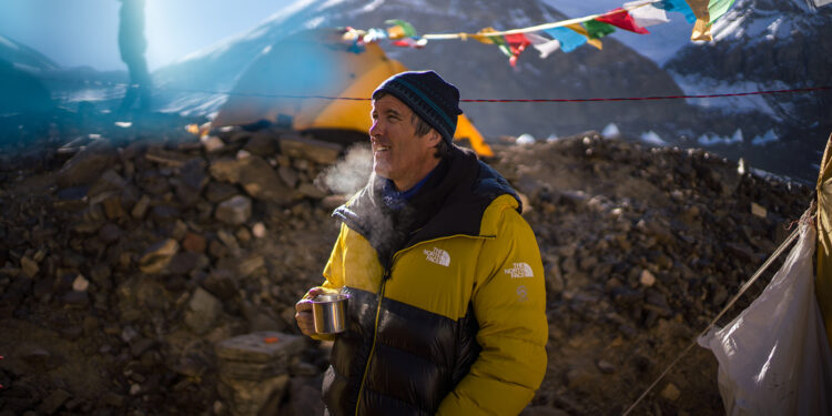 Mark Synnott during the expedition. (National Geographic/Renan Ozturk)