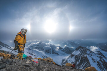 Renan Ozturk remains on the mountain after the rest of the team descends, following the hectic search for Sandy Irvine's remains. (National Geographic/Renan Ozturk)
