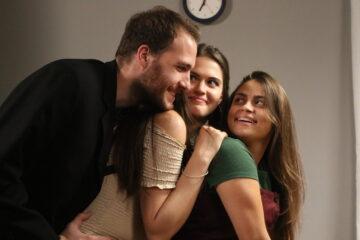 Ćerka za priner, Miloš, Staša, Andrijana tokom snimanja/Photo: promo