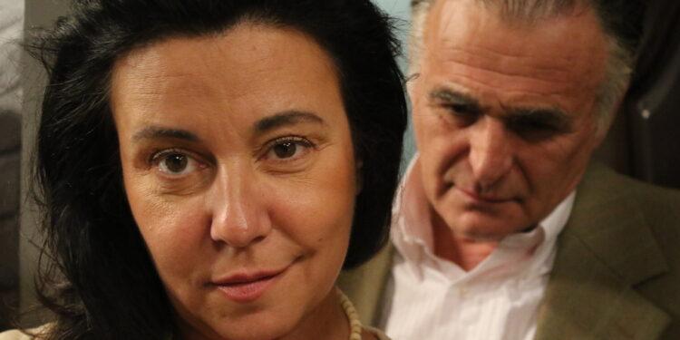 Ćerka za priner, Dušanka Stojanović Glid i Branislav Lečić pred snimanje kadra/Photo: promo