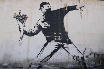 The Flower Thrower by Banksy/Photo: printscreen