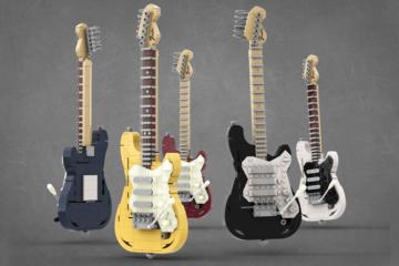Lego Fender-STratocaster/Photo: Lego promo