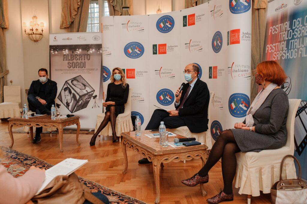 Marjan Vujovic, Gabrijela Karluci, ambasador Karlo Lo Kaso, Paola Kordone/ Photo: Irina Duplevskaja
