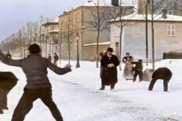 Auguste & Louis Lumière: Snowball Fight