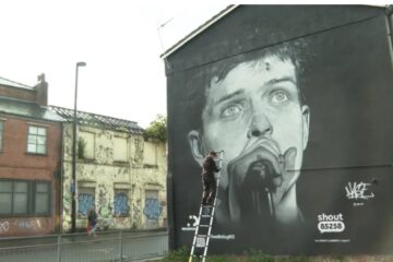 Mural Ijana Kertisa/Photo: ITV News printscreen