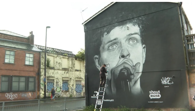 Mural Ijana Kertisa/Photo: ITV News printscreen