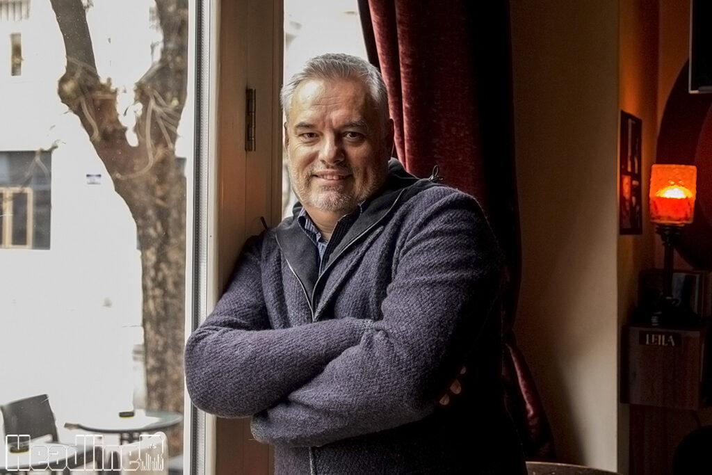 Rodoljub Stojanović (fotografisano u kafeu Leila, Jevremova 6)/ Photo: AleX