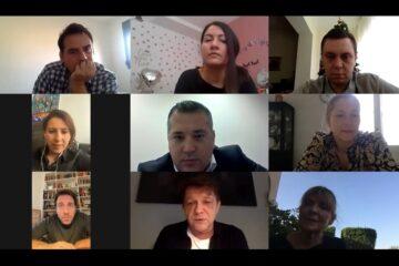 Glumci i predstavnici Mozzarta na sastanku preko zooma