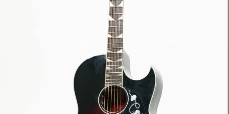 The Gibson Acoustic Dave Mustaine CF-100 Blood Burst