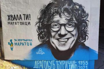 Dragoljub Đuričić, mural/Photo: facebook@Belgrade.Marathon