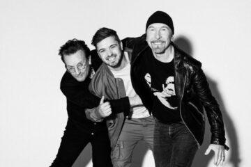 Martin Gariks i U2/Photo: martin garrix instagarm
