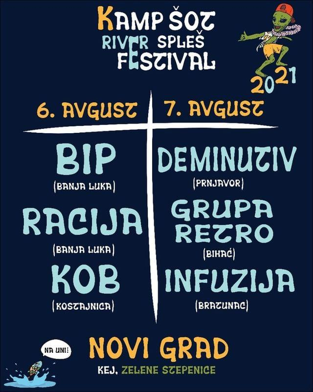 Kamp Šot River Spleš Festival