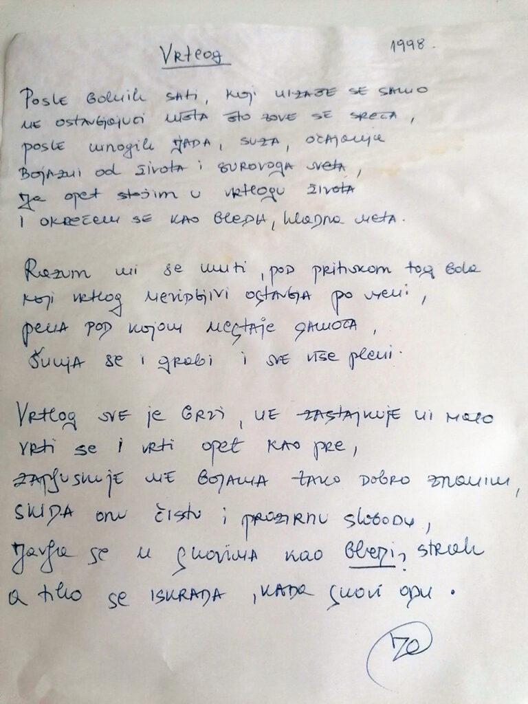 """Pesmu """"Vrtlog"""" Jelena je napisala sa 16 godina"""
