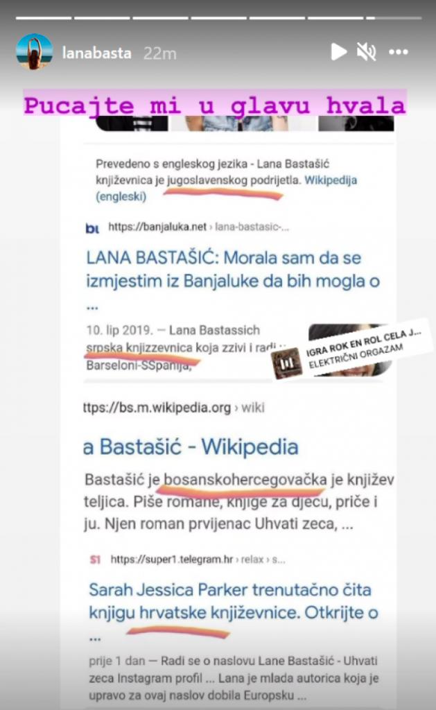 Lana Bastašić (@lanabasta)/instaram screenshot
